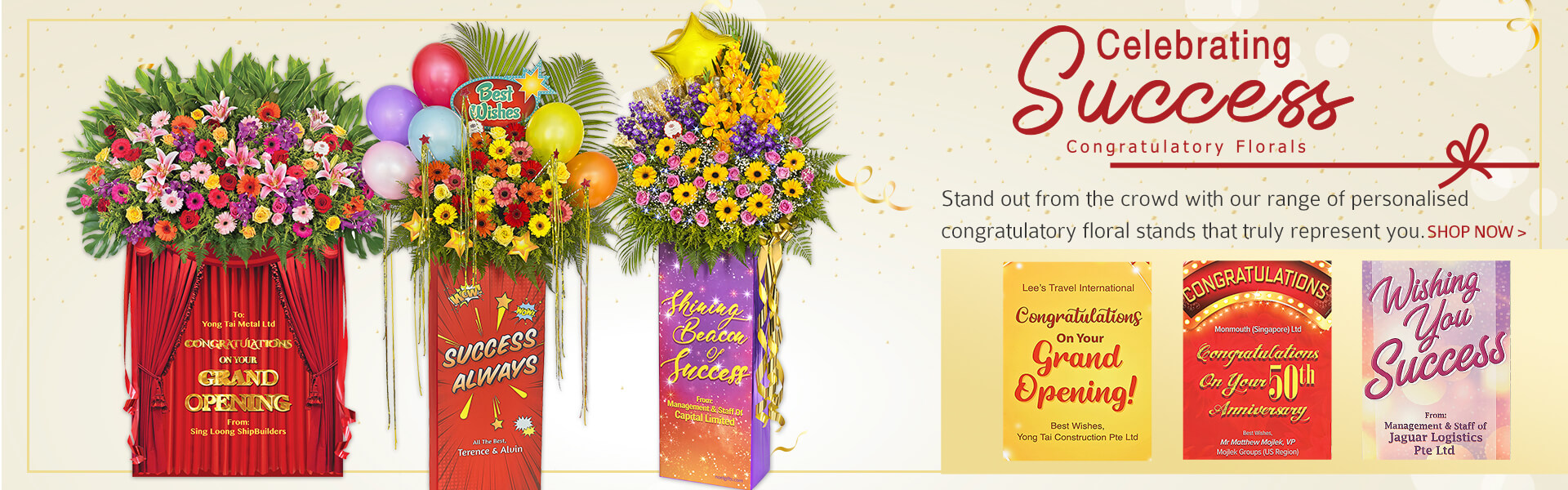 Online grand official opening flowers