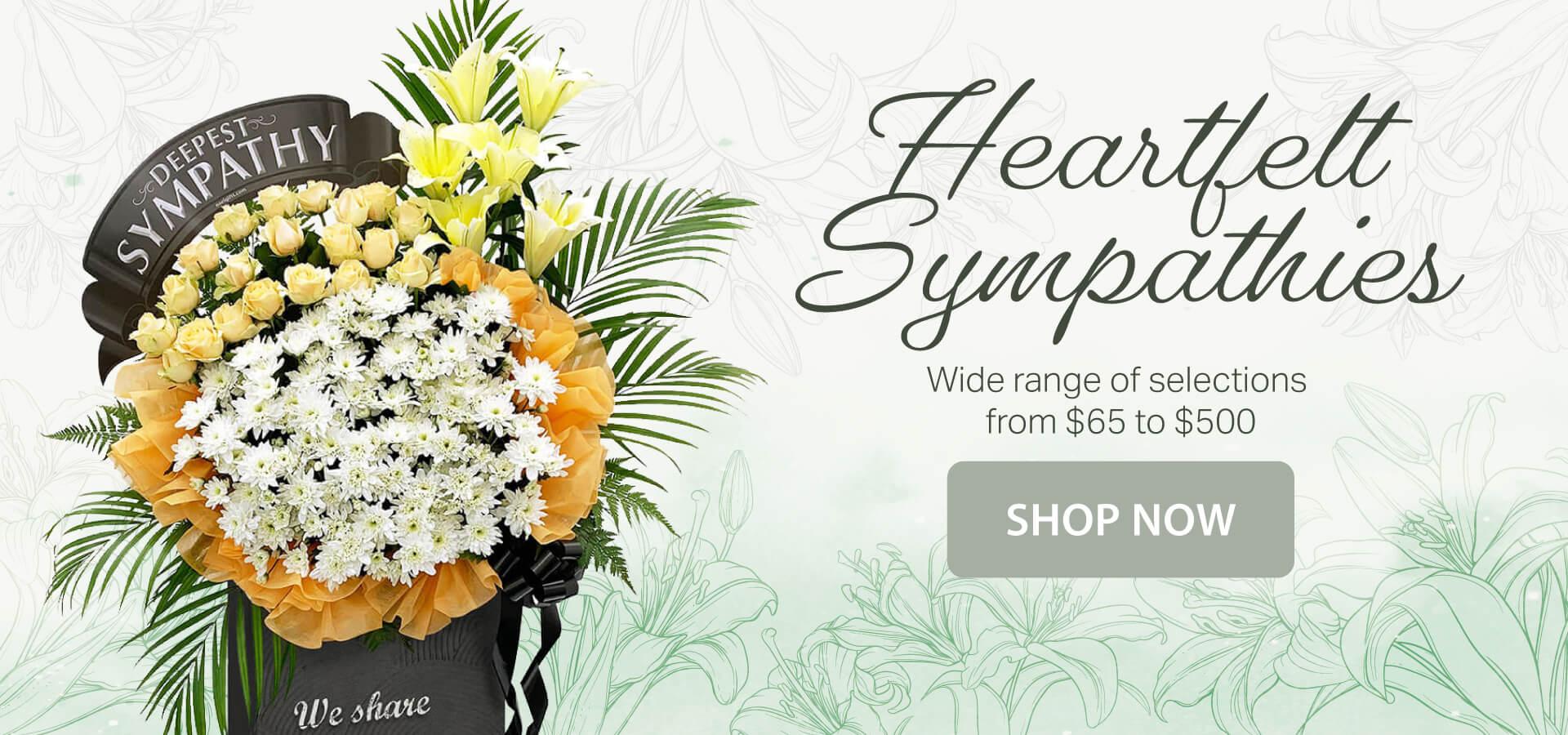 Condolences Floral Stands Singapore